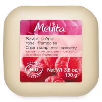 Melvita - Sapone Crema Rosa-Lampone - 100g