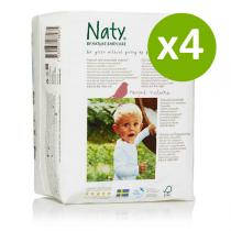 Nature Babycare - 4 Packs of 18 Eco Nappies Size 6 Extra Large 16kg+