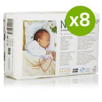 Naty by Nature Babycare - Pack 8 x 26 Eco Pannolini T1 2-5 kg