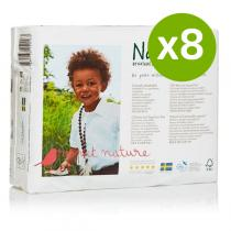Naty by Nature Babycare - 8 Packs of 31 Naty Eco Nappies Size 3 (4-9kg)