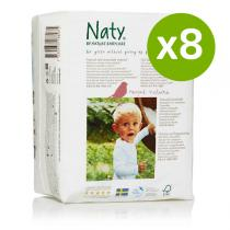 Naty by Nature Babycare - Pack 8 x 18 Eco Pannolini T6 +16kg