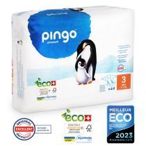 Pingo - Pack 4 x 44 couches écologiques jetables T3 4-9kg
