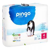 Pingo - Pack 8 x 40 couches écologiques jetables T4 7-18kg