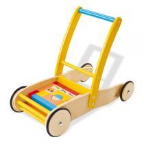 Pinolino - Chariot de jeu Bodo avec blocs en bois