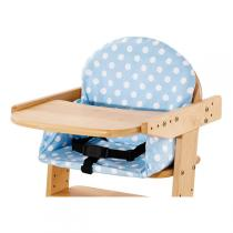 Pinolino - Bezug für Treppenstuhl-Sitzverkleinerer Punkte hellblau