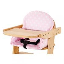 Pinolino - Bezug für Treppenstuhl-Sitzverkleinerer Punkte rosa