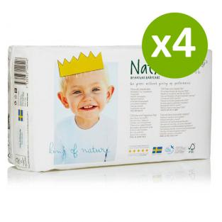 Naty by Nature Babycare - 4 Packs of 34 Naty Eco Nappies Size 2 (3-6kg)