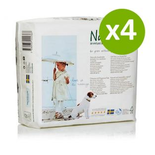 Nature Babycare - 4 Packs of 25 Eco Nappies Size 4+ Maxi Plus 9-20kg