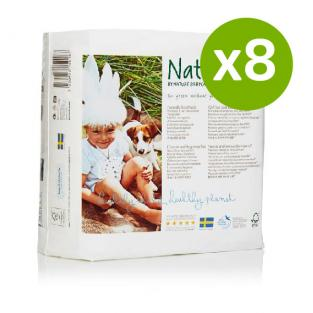 Naty by Nature Babycare - 8 Packs of 23 Naty Eco Nappies Size 5 (11-25kg)
