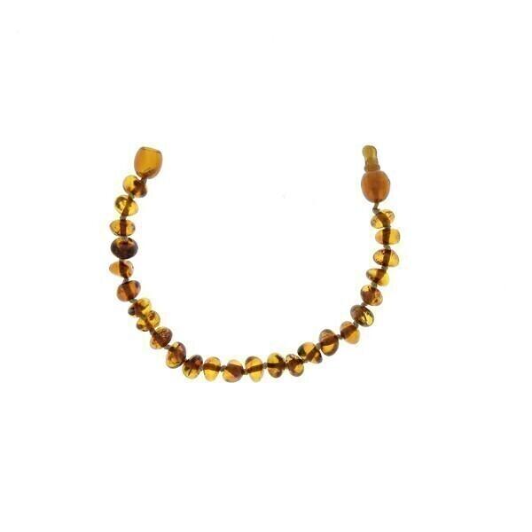 BalticWay - Bracciale Perline in Ambra Cognac Con Clip