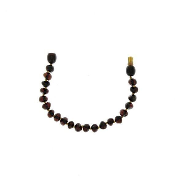 BalticWay - Bracelet enfant ambre billes cherry clip