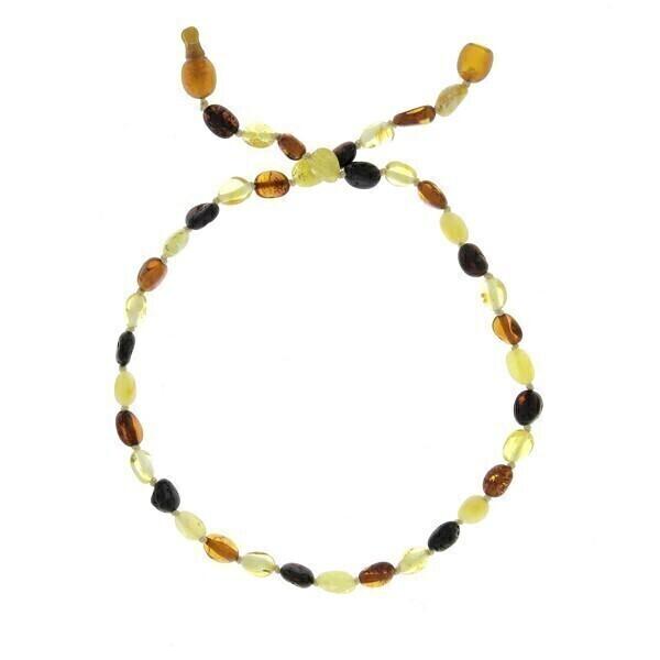 BalticWay - Collana d Ambra pietre Ovali con Clip - Mix