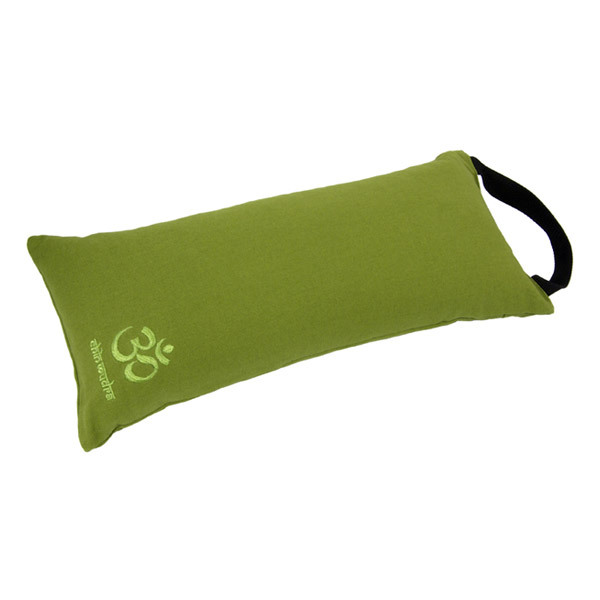 Chin Mudra - Coussin de yoga de voyage 44 x 19 x 10cm Vert