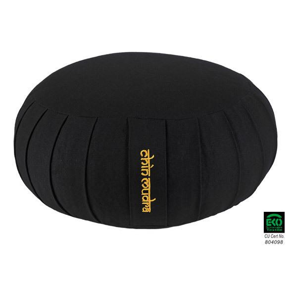 Chin Mudra - Coussin Zafu Confort coton Bio 40 x 18cm Noir