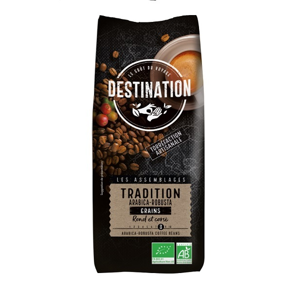Destination - Gemahlener Kaffee BIO - Tradition Arabica-Robusta 1 kg