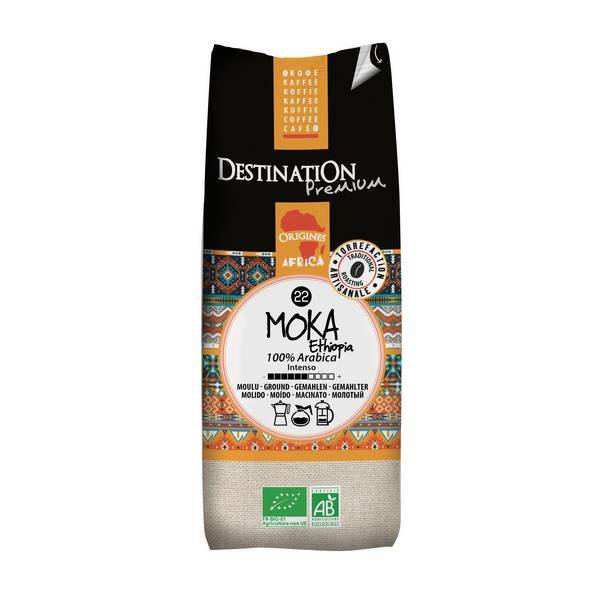 Destination - Organic Ground Coffee Ethiopia Moka Awas 250g