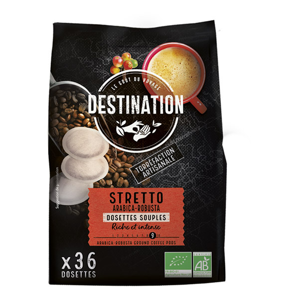 Destination - Stretto arabica-robusta Dosettes souples x36