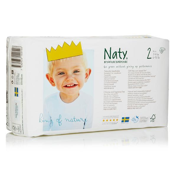 Nature Babycare - 4 Packs of 34 Eco Nappies Size 2 Mini 3-6kg