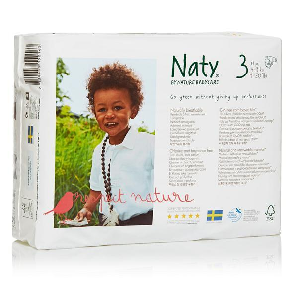 Nature Babycare - 4 Packs of 31 Eco Nappies Size 3 Midi 4-9kg
