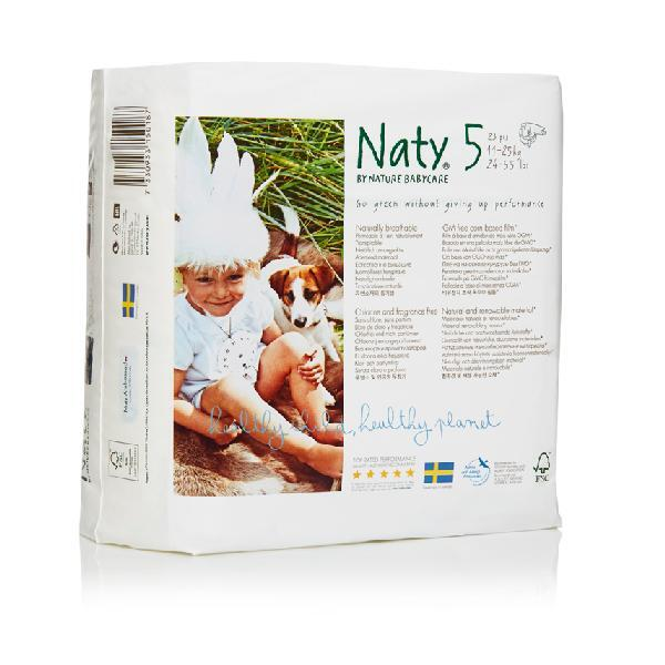 Nature Babycare - 8 Packs of 23 Eco Nappies Size 5 Junior 11-25kg