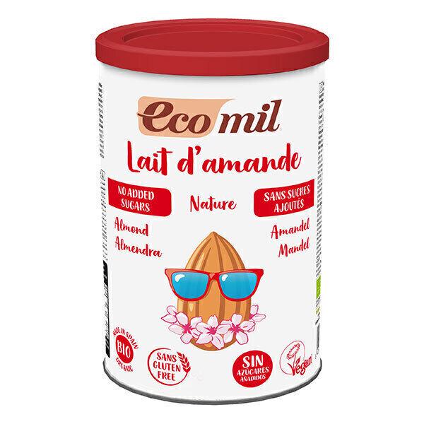EcoMil - Lait d'amande bio sans sucres ajoutés 400g