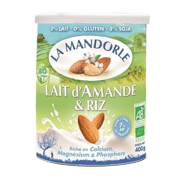 La Mandorle - Lait d'amande et riz Calcium, magnésium, phosphore 400g