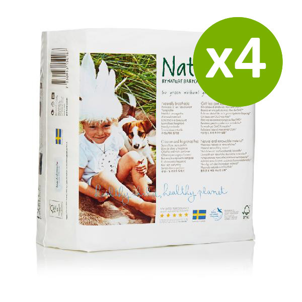 Nature Babycare - 4 Packs of 23 Eco Nappies Size 5 Junior 11-25kg
