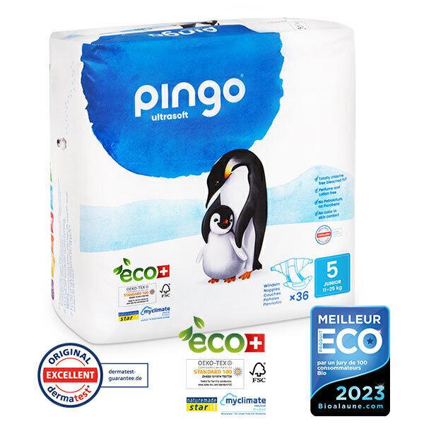 Pingo - Pack 4 x 36 couches écologiques jetables T5 11-25kg