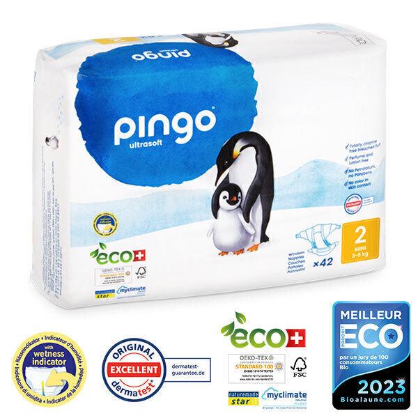 Pingo - Pack 8 x 42 couches écologiques jetables T2 3-6kg