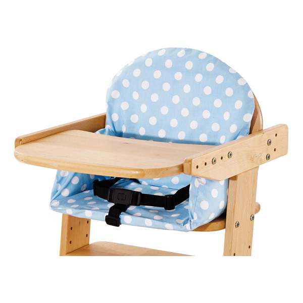 Housse de coussin pour chaise haute bleue pinolino la r f rence bien tre bio b b - Housse de chaise haute bebe ...