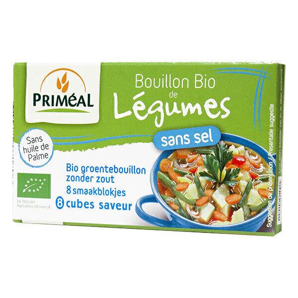 Priméal - Bouillon de légumes sans sel en cube 72g