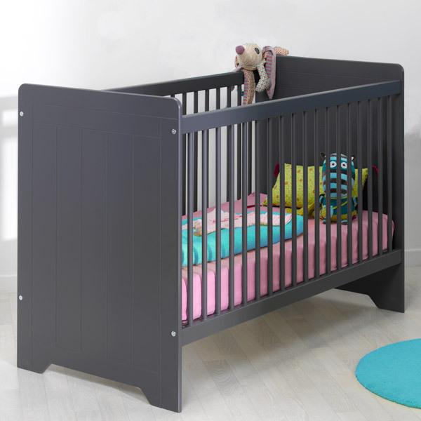 lit b b oslo gris sofamo acheter sur. Black Bedroom Furniture Sets. Home Design Ideas