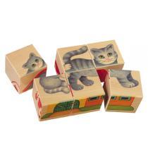 Selecta - 6 Cubes Puzzle bébé  La Campagne