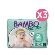 Bambo Nature - Pack 3 paquets 30 couches T2, 3-6 kg