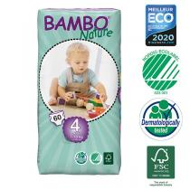 Bambo Nature - Pack 6 paquets 60 couches jetables T4 Maxi 7-18 kg