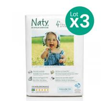 Eco by Naty - Pack de 3 paquets de 25 Couches Eco Maxi+ 9-20 kg