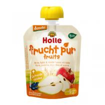 Holle - Lot 2 Gourdes Poire Pomme Myrtille Avoine 90g