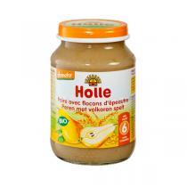 Holle - Lot 2 Petits pots poire aux flocons d'épeautre 4 mois 190g