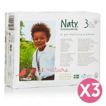 Naty by Nature Babycare - Pack 3 paquets 31 couches Eco Midi 4-9 kg