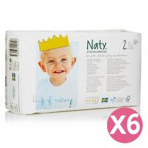 Naty by Nature Babycare - Pack 6 paquets 34 Couches Eco Mini 3-6 kg