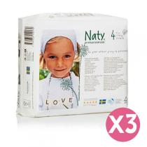 Naty by Nature Babycare - Pack de 3 paquets 27 Couches Eco Maxi 7-18 kg