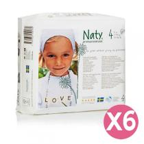 Naty by Nature Babycare - Pack de 6 paquets 27 Couches Eco Maxi 7-18 kg