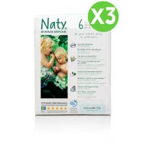 Naty by Nature Babycare - Pack 3 paquets 18 Couches Eco XL 16 kg+