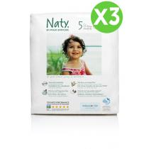 Naty by Nature Babycare - Pack de 3 paquets 23 Couches Eco Junior 11-25 kg