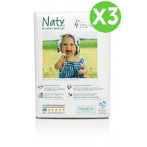 Naty by Nature Babycare - Pack de 3 paquets de 25 Couches Eco Maxi+ 9-20 kg