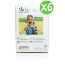 Naty by Nature Babycare - Pack de 6 paquets de 25 Couches Eco Maxi+ 9-20 kg