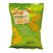 Priméal - Lot 2 paquets mini galettes de maïs au romarin 50 g