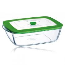 Pyrex - 2.2 Litre 4-in-1 Plus Square Dish with Lid