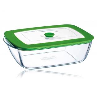 Pyrex - 1.5 Litre 4-in-1 Plus Square Dish with Lid