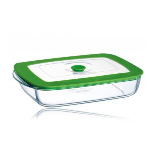 Pyrex - 0.35 Litre 4-in-1 Plus Rectangular Dish with Lid
